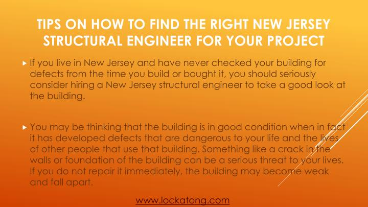 Tips on how to find the right new jersey structural engineer for your project1
