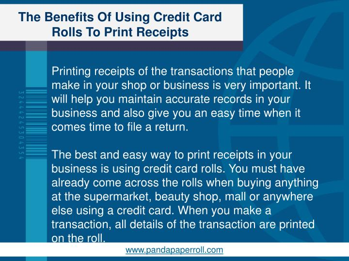 The benefits of using credit card rolls to print receipts1