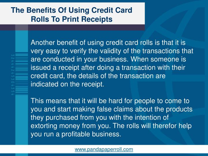 The Benefits Of Using Credit Card Rolls To Print Receipts