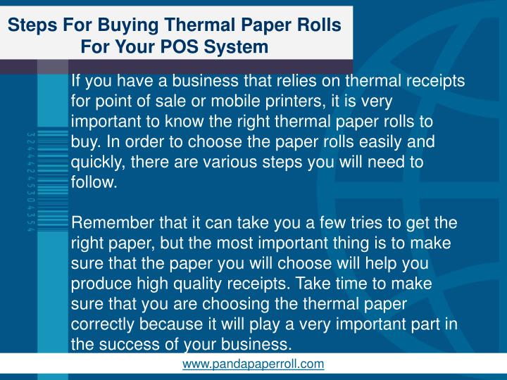 Steps for buying thermal paper rolls for your pos system1