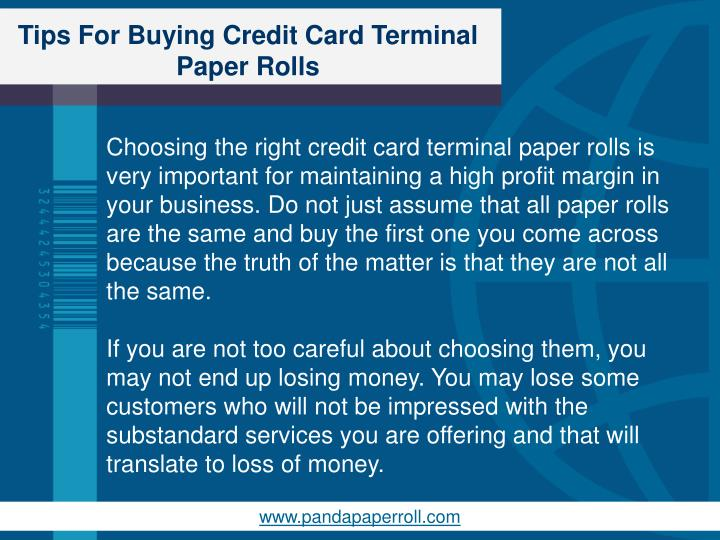 Tips for buying credit card terminal paper rolls1