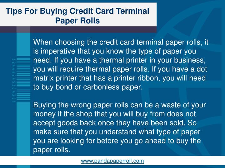 Tips for buying credit card terminal paper rolls2