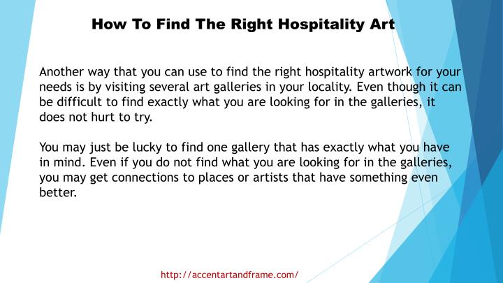 How To Find The Right Hospitality Art