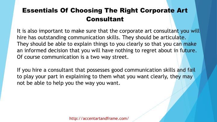 Essentials Of Choosing The Right Corporate Art Consultant