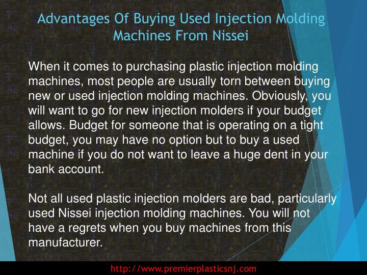 Advantages of buying used injection molding machines from nissei1