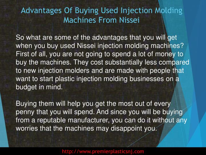 Advantages of buying used injection molding machines from nissei2