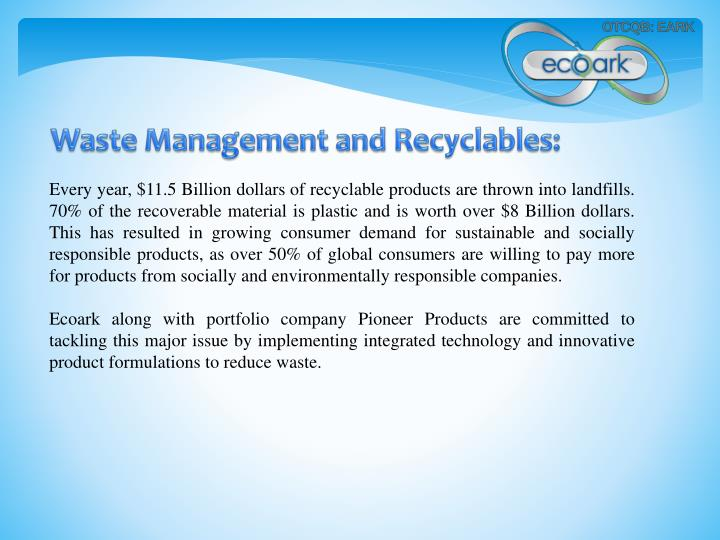 Waste Management and Recyclables:
