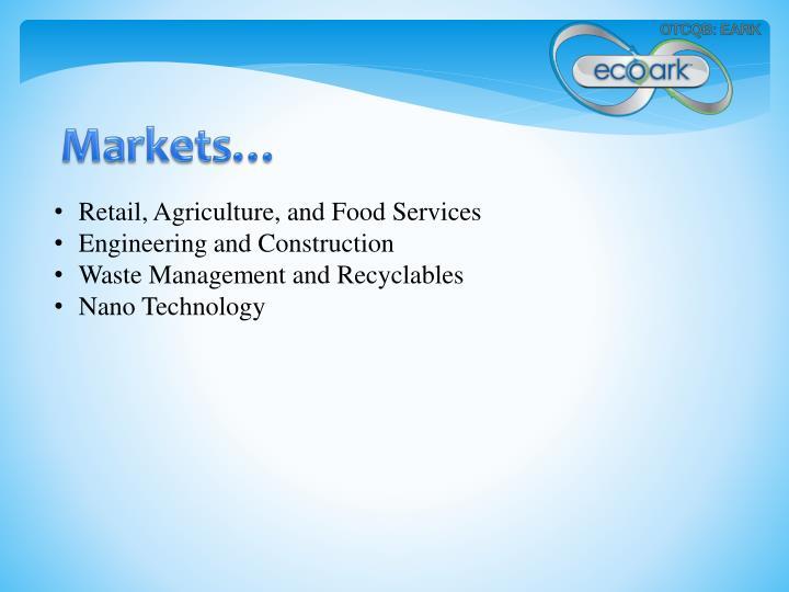 Markets…