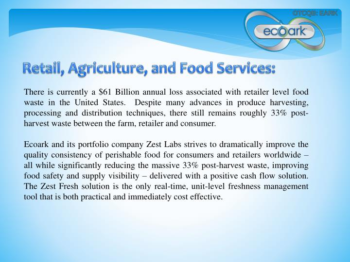 Retail, Agriculture, and Food Services: