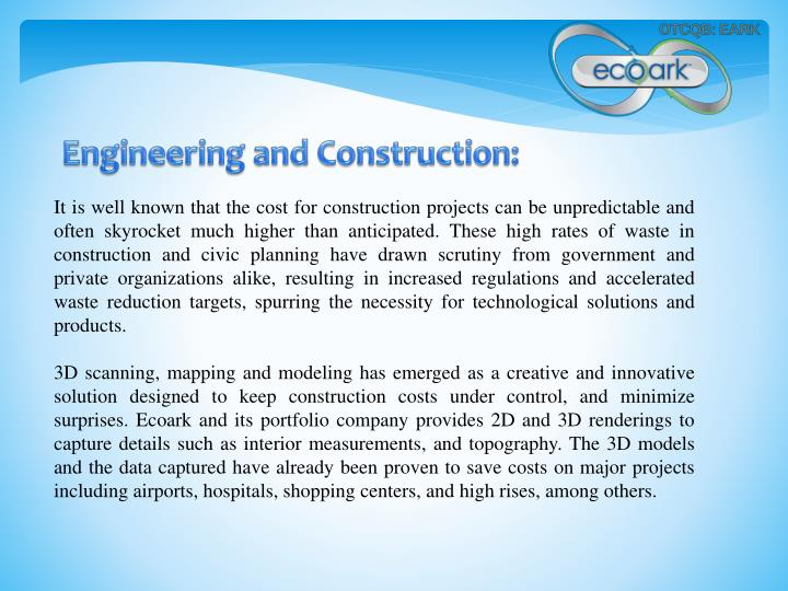 Engineering and Construction: