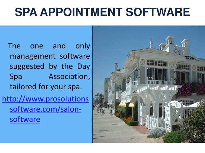 SPA APPOINTMENT SOFTWARE