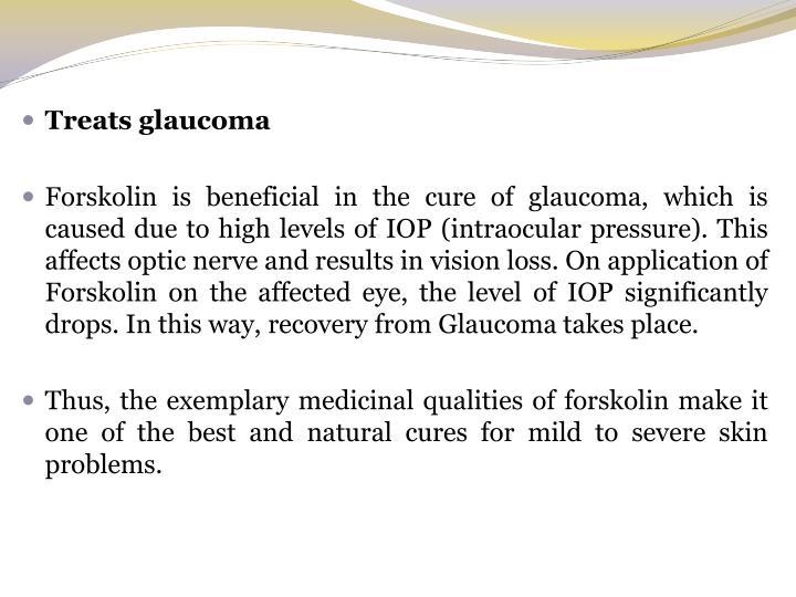Treats glaucoma