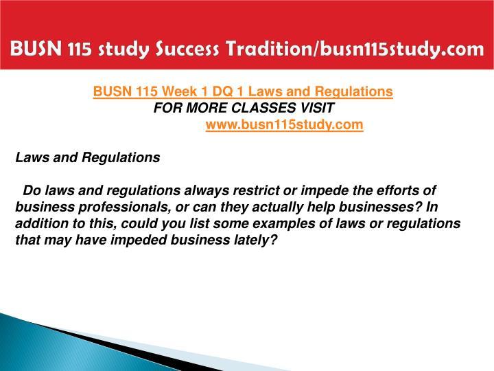BUSN 115 study Success Tradition/busn115study.com