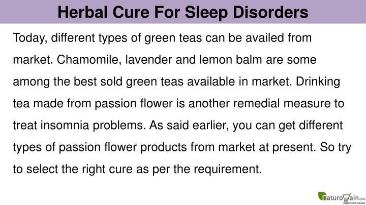 Herbal Cure For Sleep Disorders