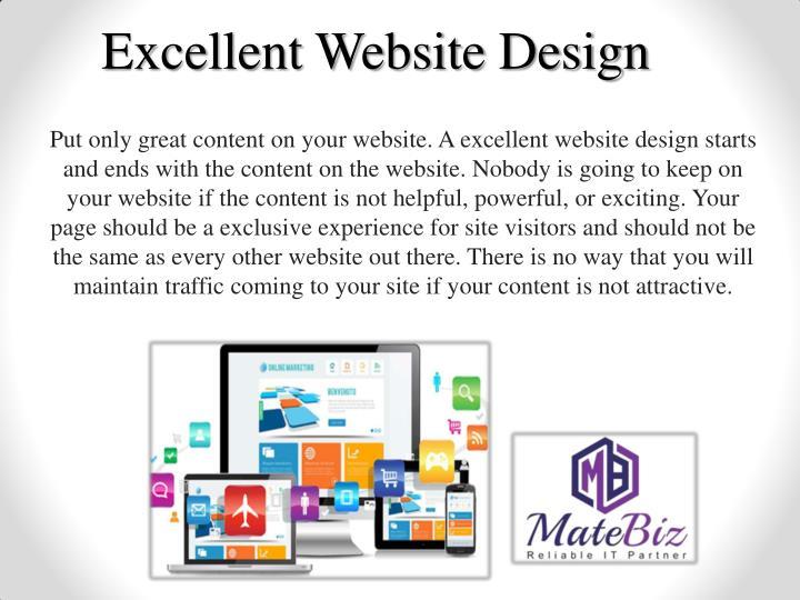 Excellent Website Design