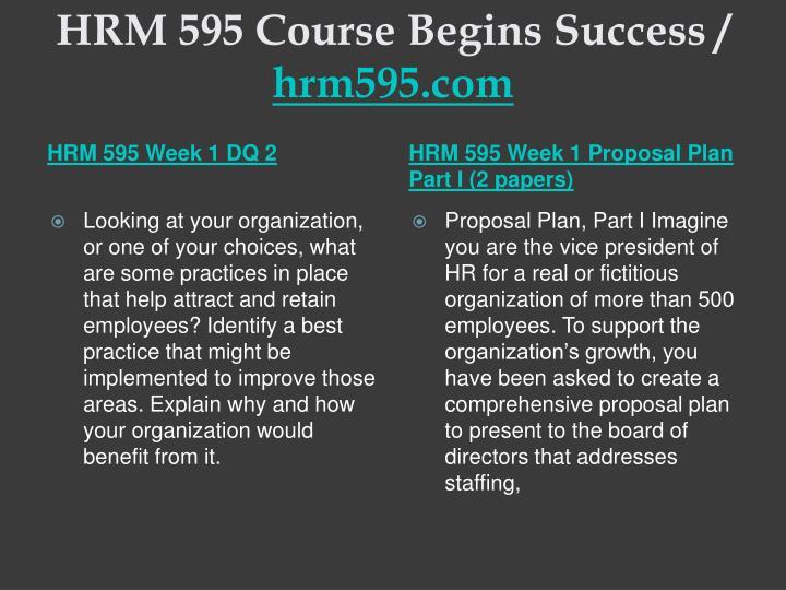 Hrm 595 course begins success hrm595 com2