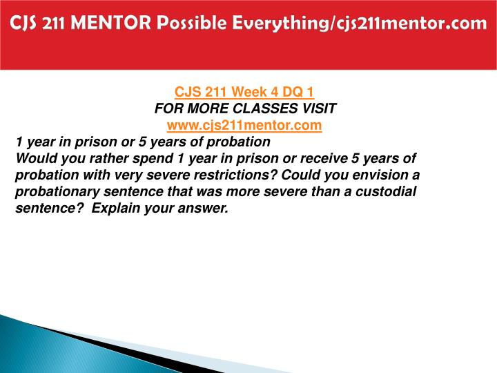 CJS 211 MENTOR Possible Everything/cjs211mentor.com