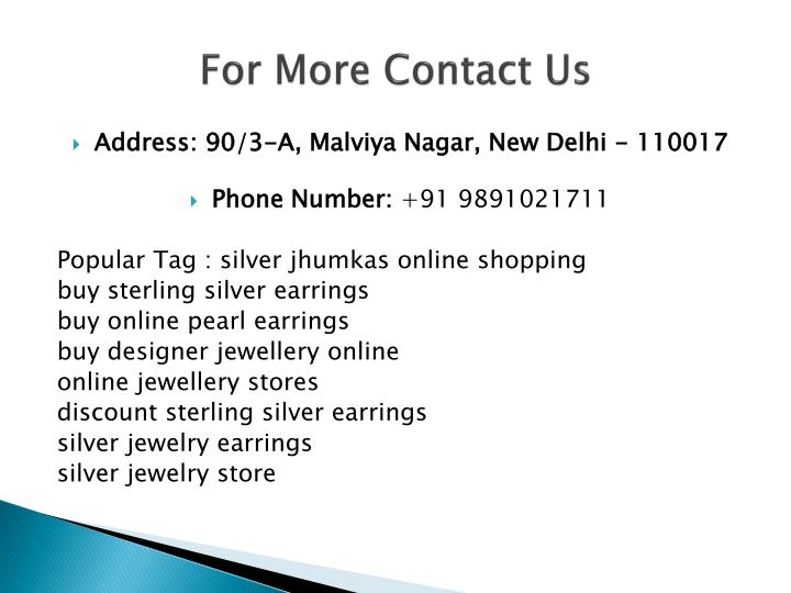 For more contact us