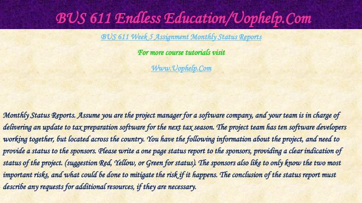 Bus 611 endless education uophelp com2