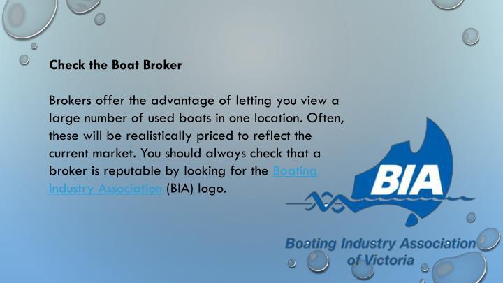 Check the Boat Broker