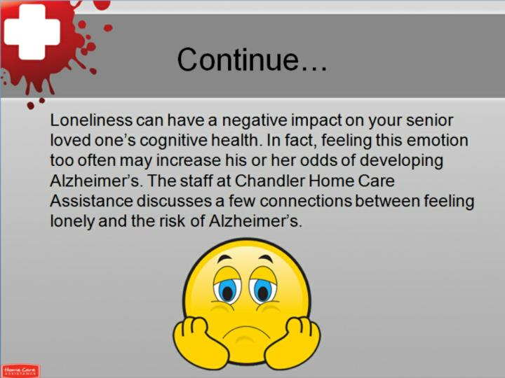 Can loneliness lead to alzheimer s