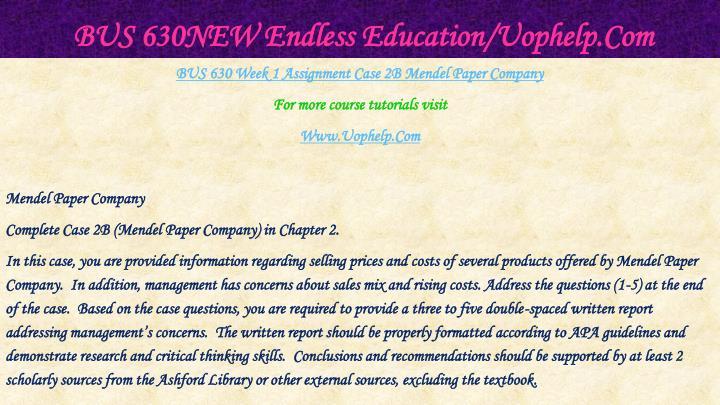 Bus 630new endless education uophelp com2