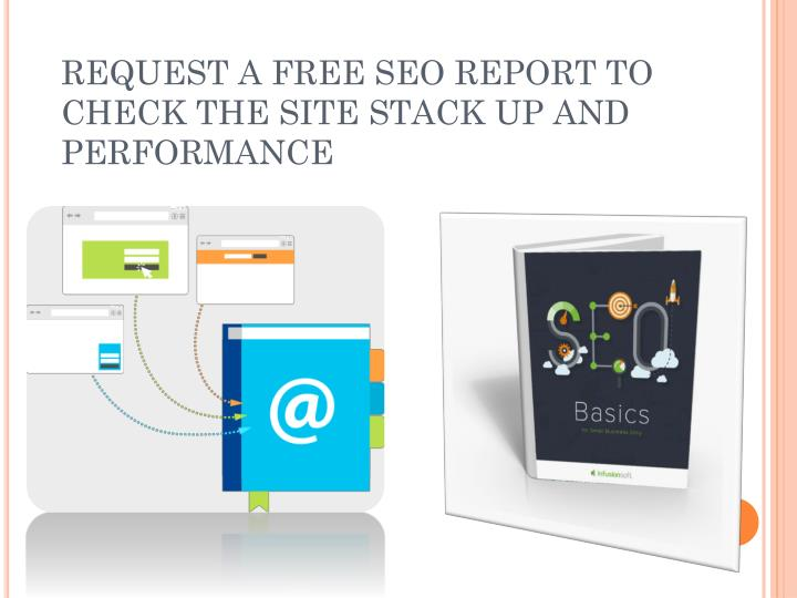 Request a free seo report to check the site stack up and performance