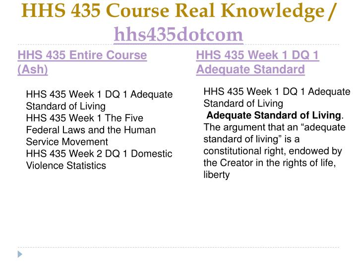 Hhs 435 course real knowledge hhs435dotcom1