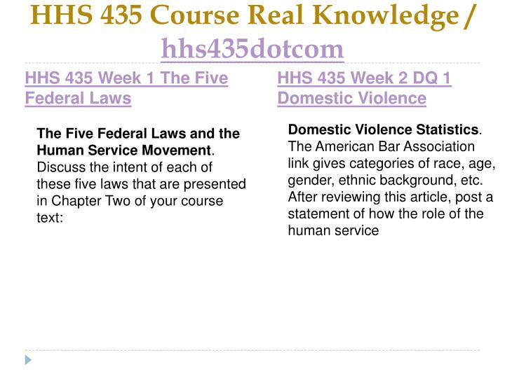 Hhs 435 course real knowledge hhs435dotcom2