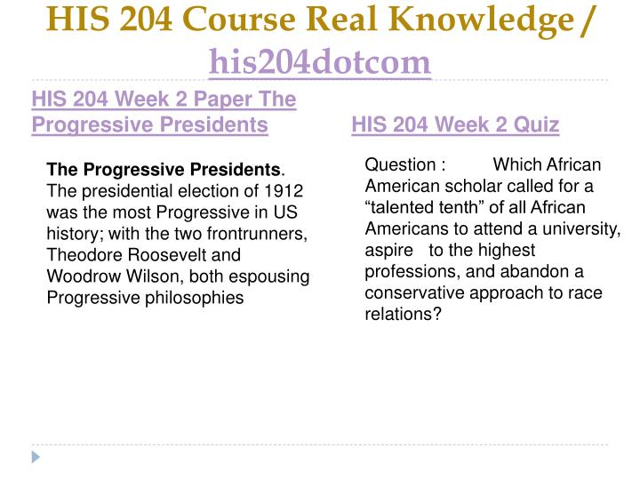 HIS 204 Course Real Knowledge /