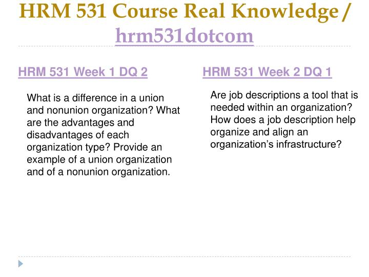 Hrm 531 course real knowledge hrm531dotcom2