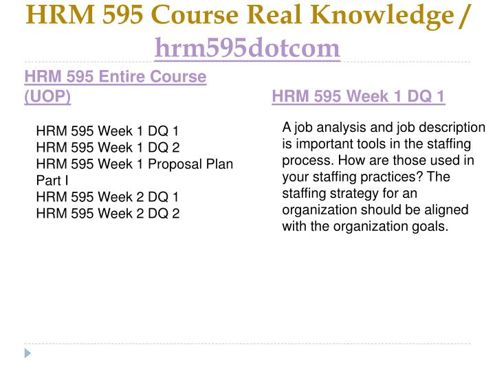 Hrm 595 course real knowledge hrm595dotcom1
