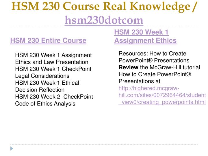 Hsm 230 course real knowledge hsm230dotcom1