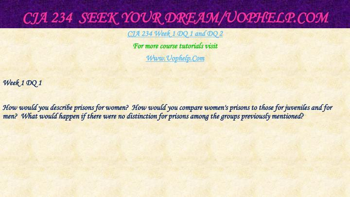 Cja 234 seek your dream uophelp com2