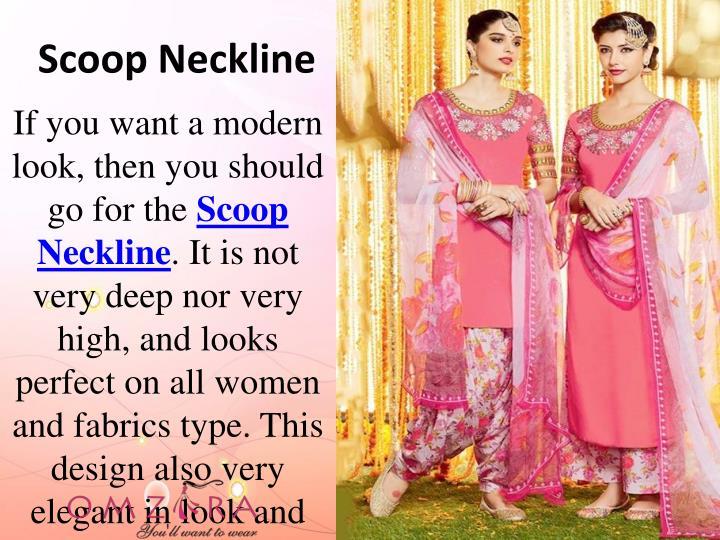 Scoop neckline
