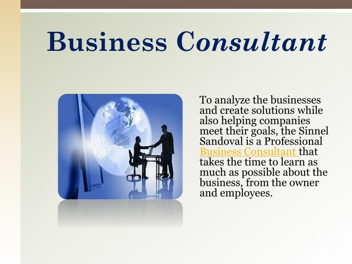 Business c onsultant