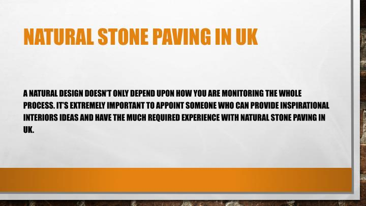 natural stone paving in UK