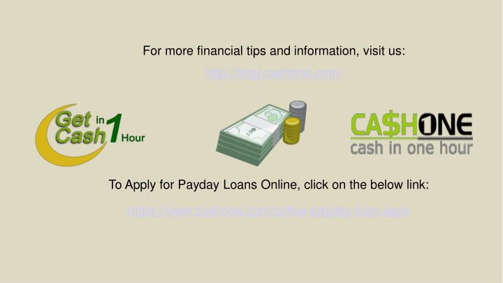For more financial tips and information, visit us: