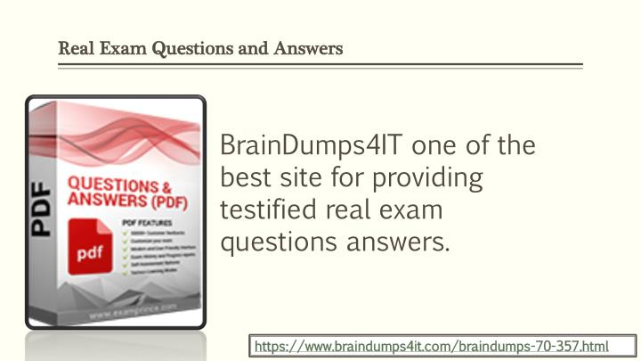Real Exam Questions and Answers
