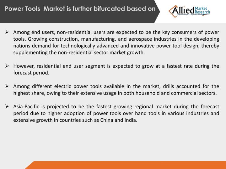Power Tools  Market is
