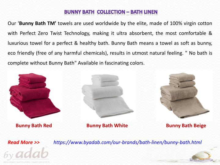 Bunny Bath  Collection – bath linen