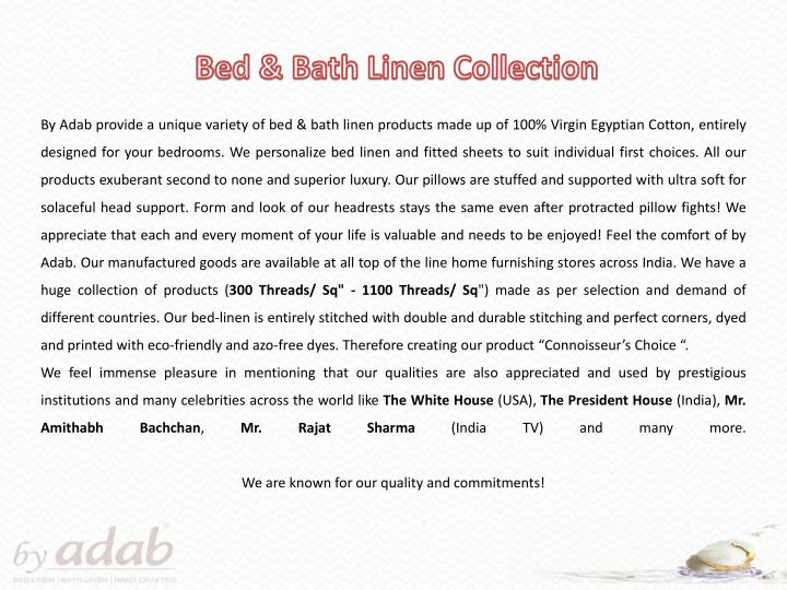 Bed & Bath Linen Collection
