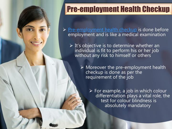Pre-employment Health Checkup