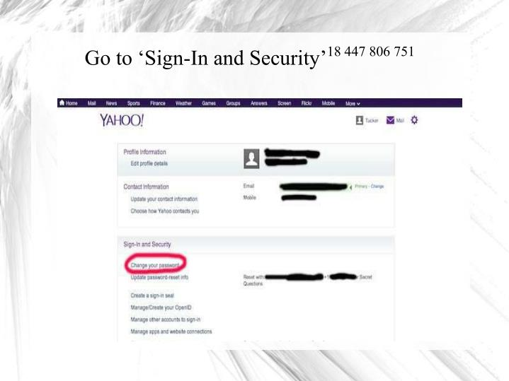 Go to 'Sign-In and Security'