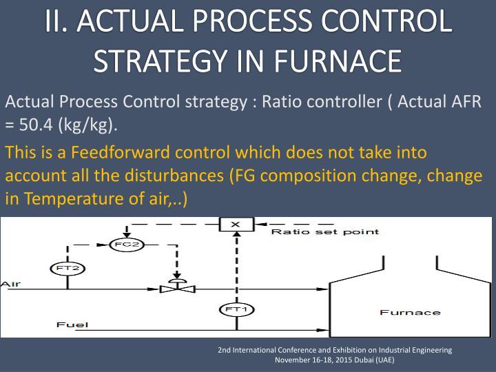 Actual Process Control strategy : Ratio controller ( Actual AFR