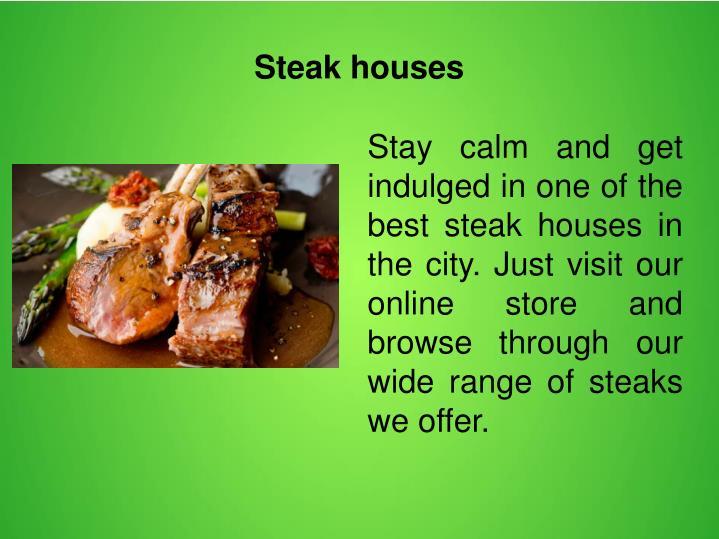 Steak houses