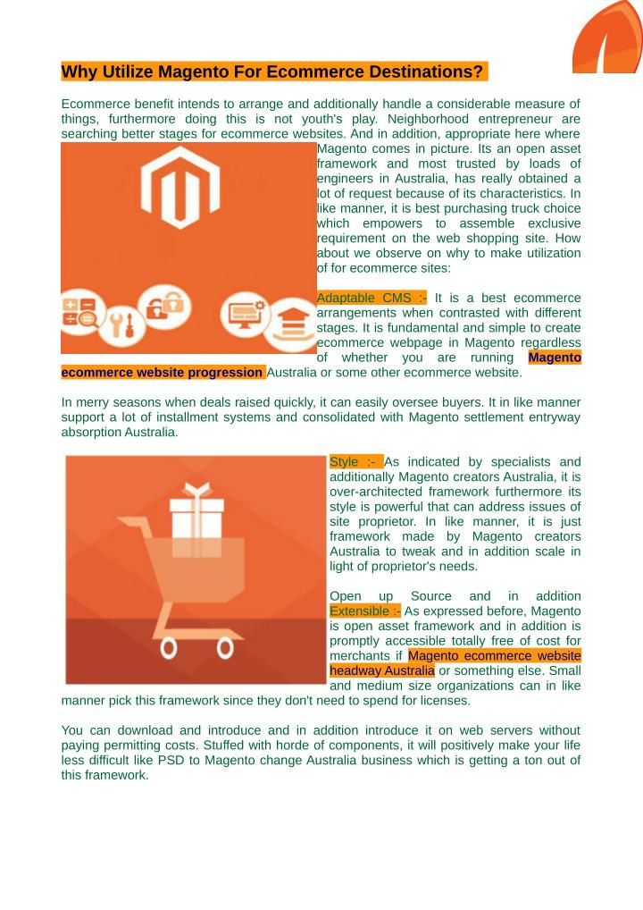 Why Utilize Magento For Ecommerce Destinations?