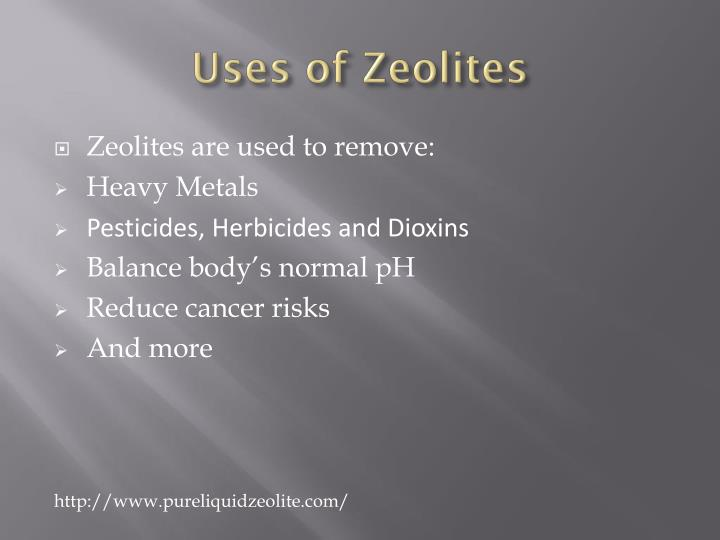 Uses of zeolites