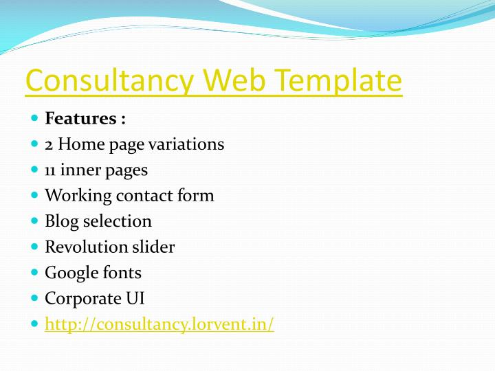 Consultancy Web Template