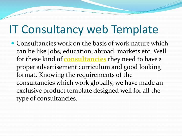 It consultancy web template